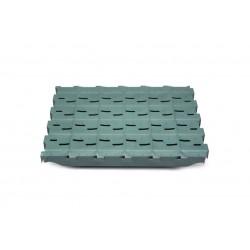 Rejilla plástico Premium normal 500 x 600 con apertura de 10mm y ciega con un 7% de apertura